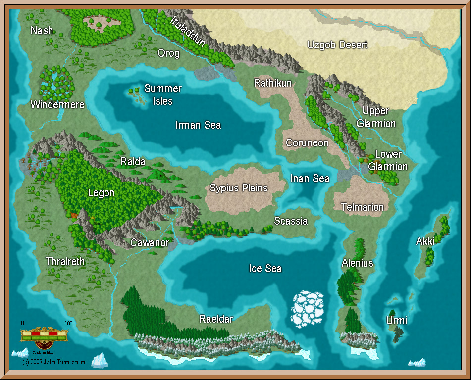 Fantasy World Map #4