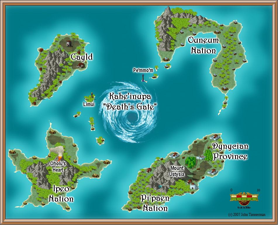 Map Of Fantasy Island Kahe'inupa   Fantasy Island Map   Fantasy Map Maker