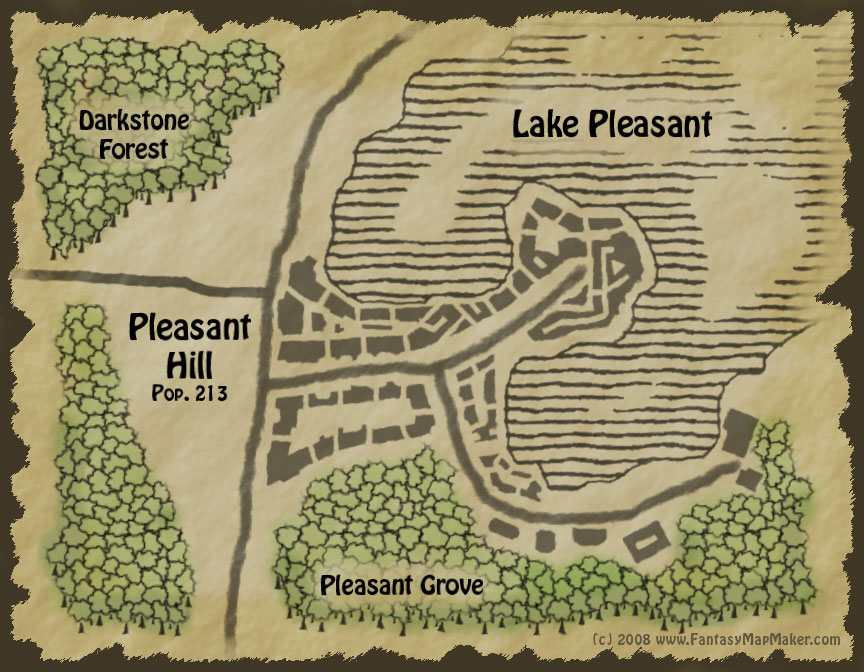 Fantasy Town Map - Pleasant Hill