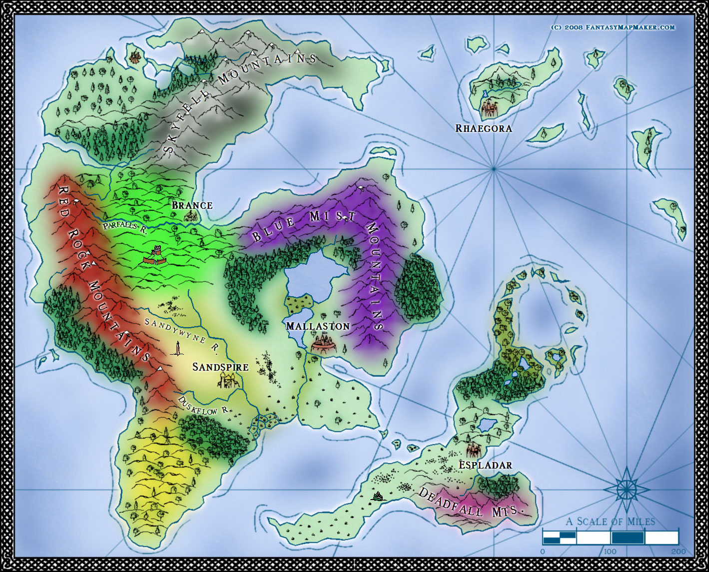 Sarah Wroot Style Fantasy World Map