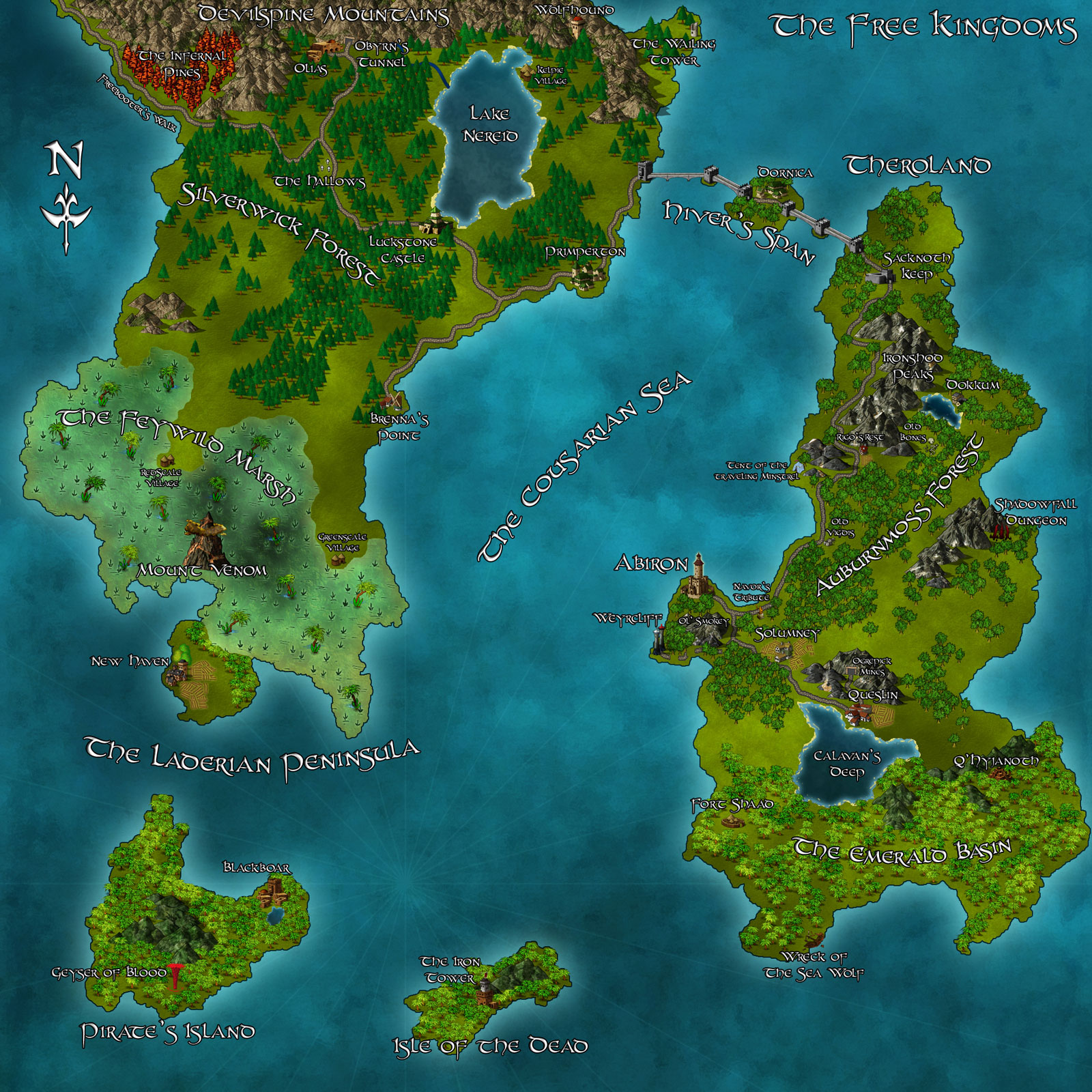 The Free Kingdoms By Sven Myrin Free Fantasy Maps