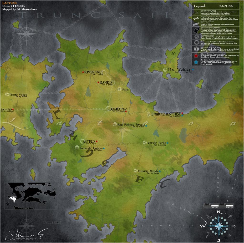 Lune Fi - Latoon Regional Map, by AkherQursan