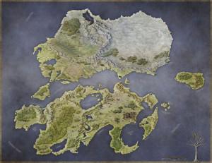 Rhune World Map by Jon Roberts
