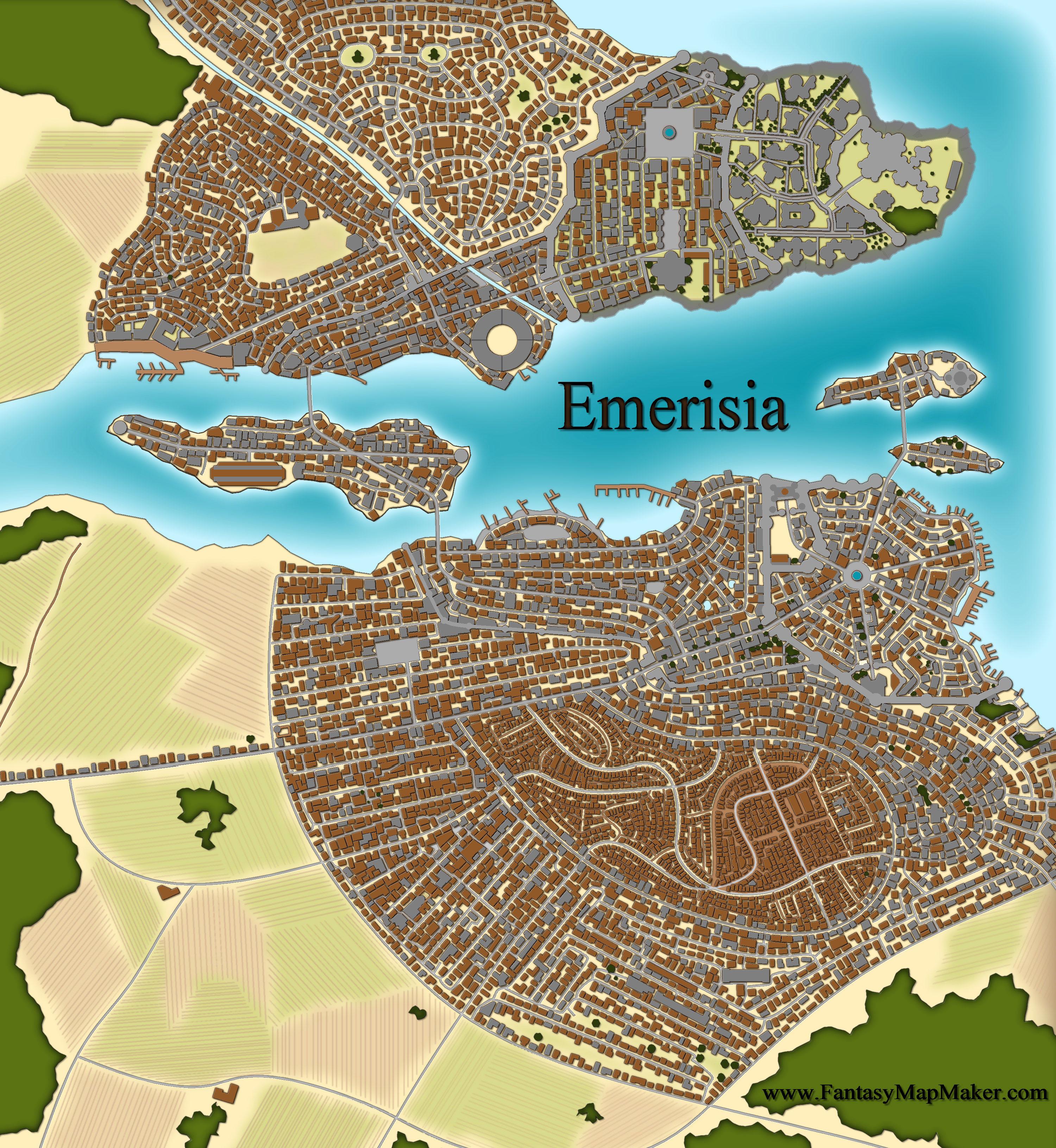 Emerisia free fantasy maps for Map designer free