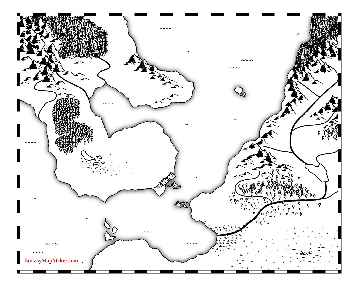 Fantasy Map Land Outlines