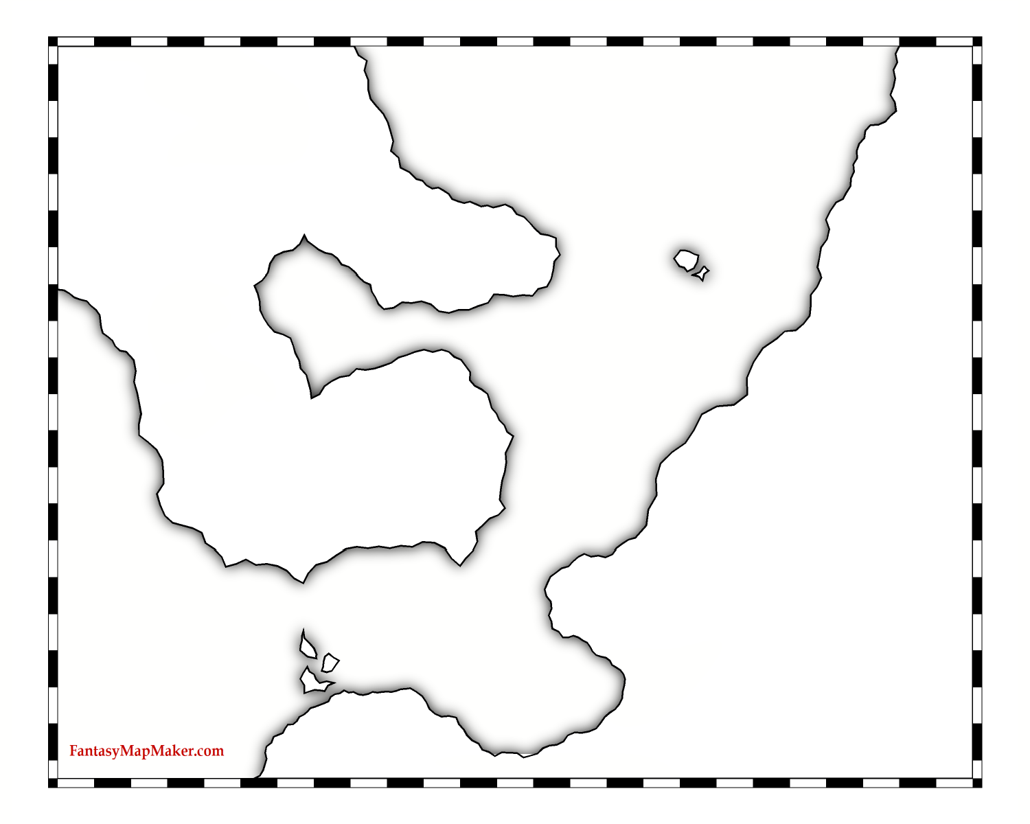 map outlines