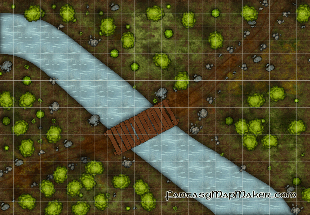 Stream Crossing Battlemap