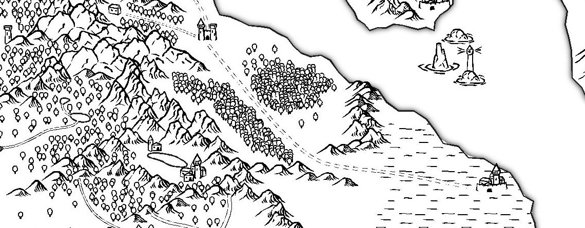 Free Dd World Map Maker.Black And White Overland Map Free Fantasy Maps
