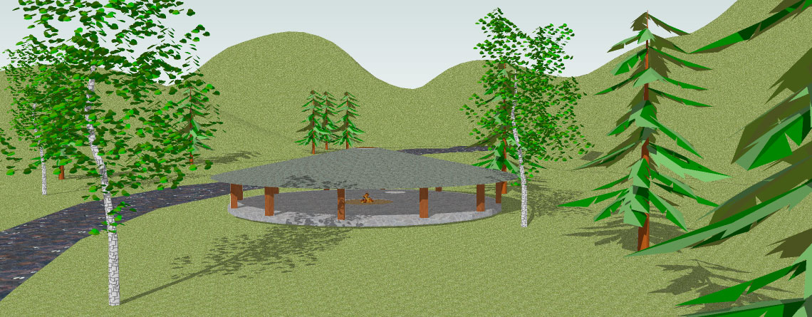 Fantasy Location Map #1: Streamside Shelter