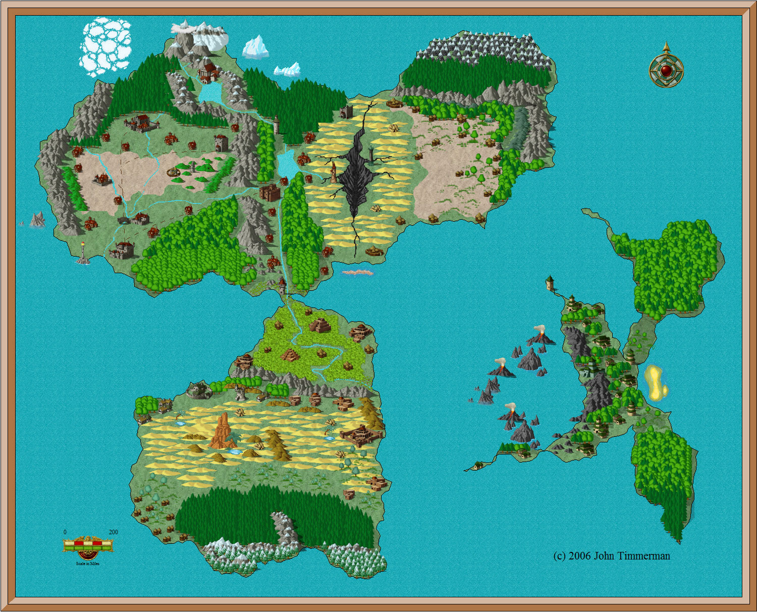 Fantasy World Map #1   Free Fantasy Maps