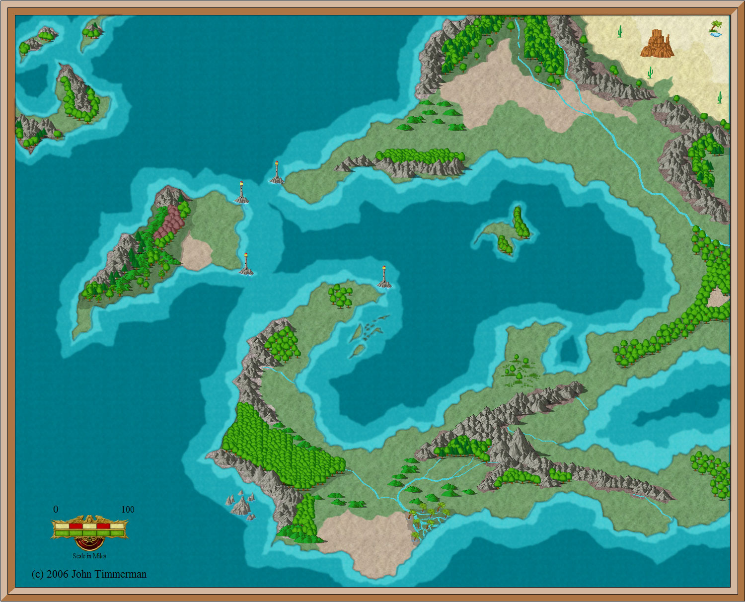 Fantasy World Map #3   Free Fantasy Maps
