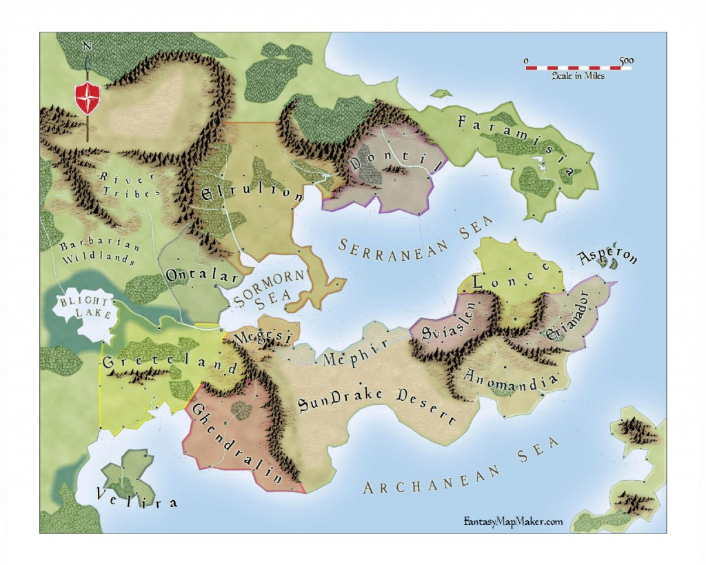 Par Lindstrom Style Fantasy World Map