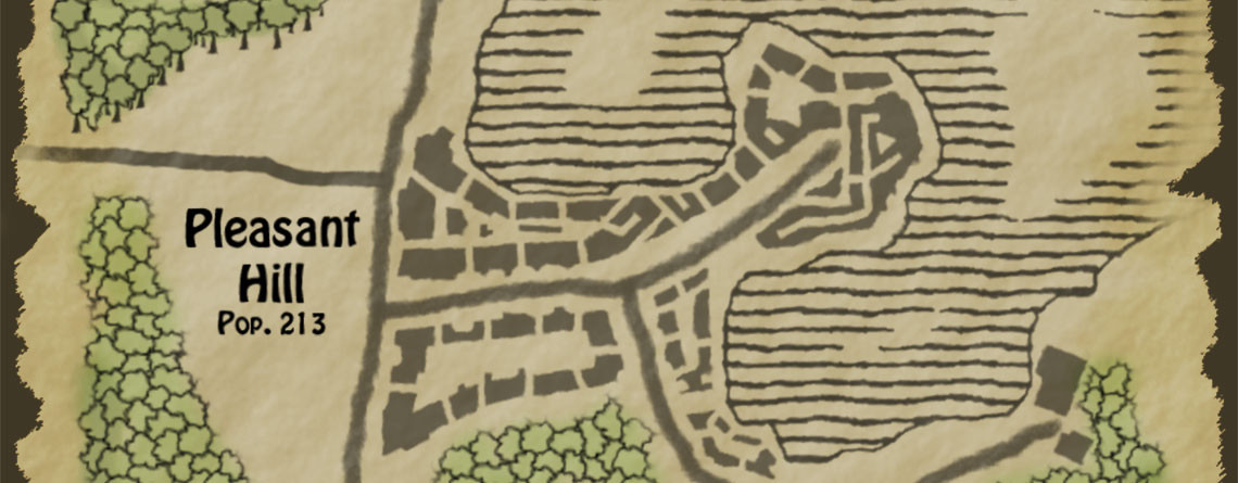 Pleasant Hill – Fantasy Town Map