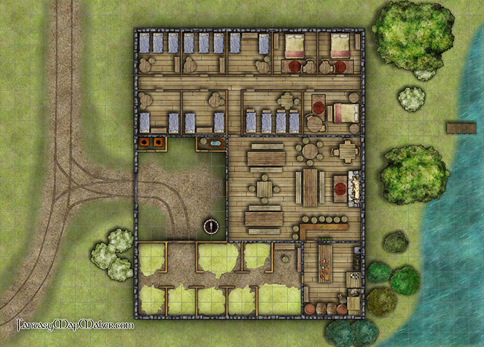 Midway inn battlemap fantasy map maker for House map creator