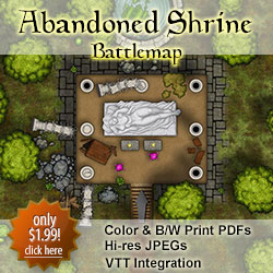 Abandoned Shrine Battlemap